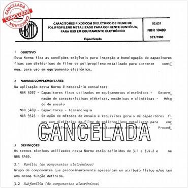 NBR10489 de 09/1988