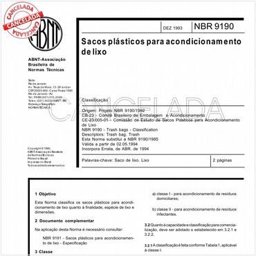 NBR9190 de 12/1993