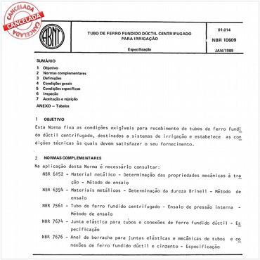 NBR10609 de 01/1989