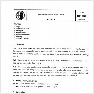 NBR10623 de 02/1989
