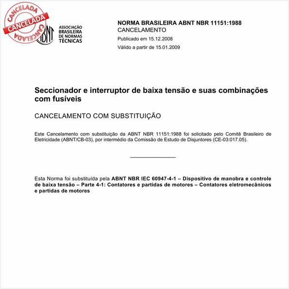 NBR11151 de 12/2008