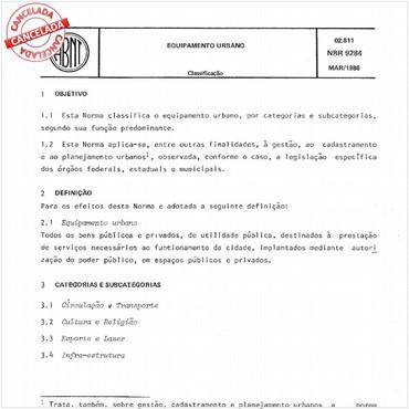 NBR9284 de 03/1986