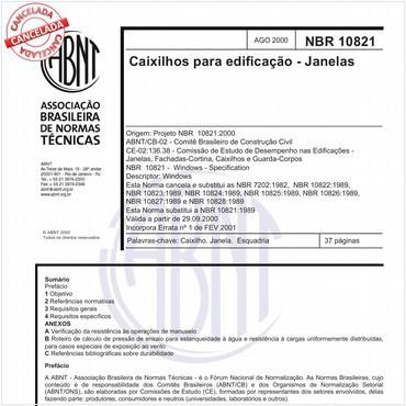 NBR10821 de 08/2000