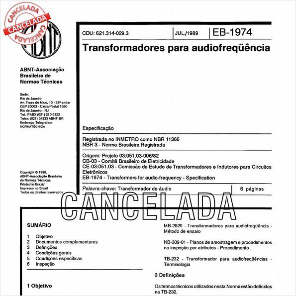 NBR11366 de 10/2012