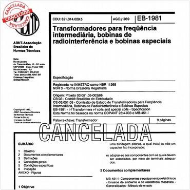NBR11368 de 08/1989