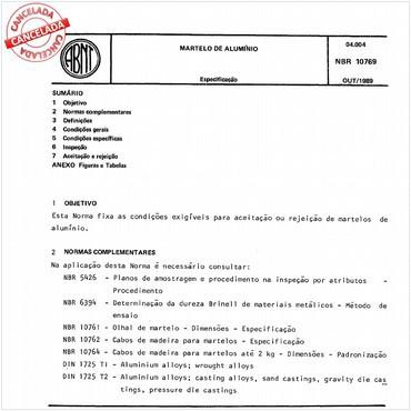 NBR10769 de 10/1989