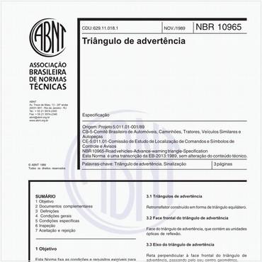 NBR10965 de 11/1989