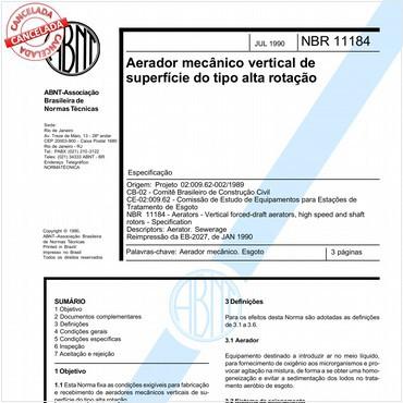 NBR11184 de 07/1990