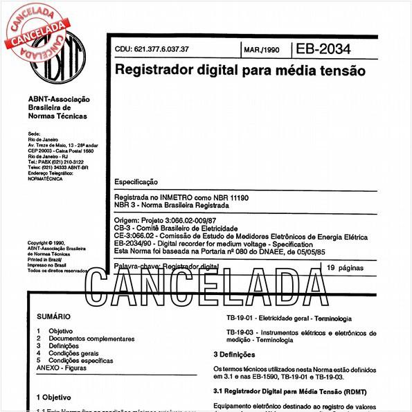 Registrador digital para média tensão