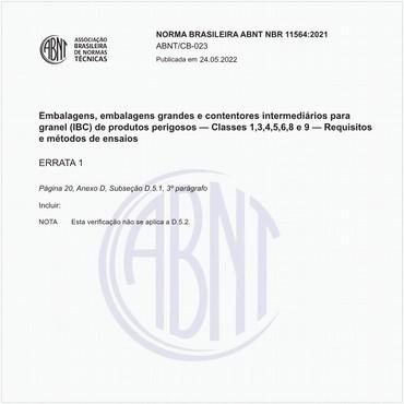 NBR11564 de 07/2002