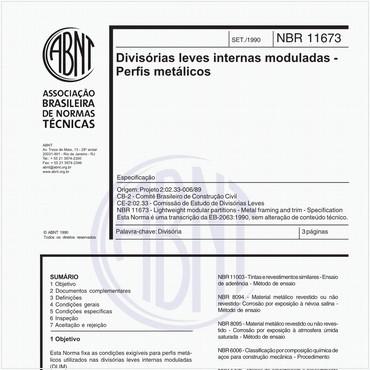 NBR11673 de 09/1990