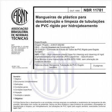 NBR11781 de 10/1990