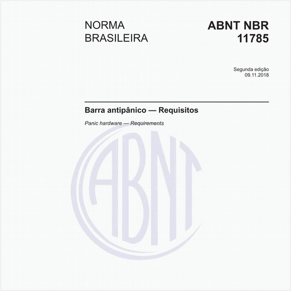 Barra antipânico - Requisitos