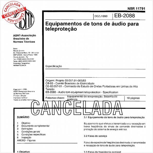 Equipamentos de tons de áudio para teleproteção