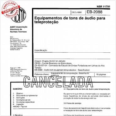 NBR11791 de 12/1990