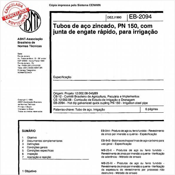 NBR11796 de 05/2012
