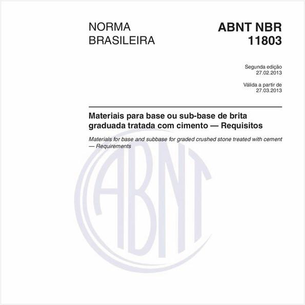 Materiais para base ou sub-base de brita graduada tratada com cimento — Requisitos