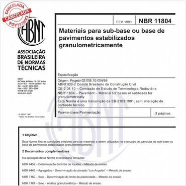 NBR11804 de 02/1991