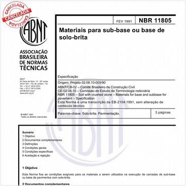 NBR11805 de 02/1991