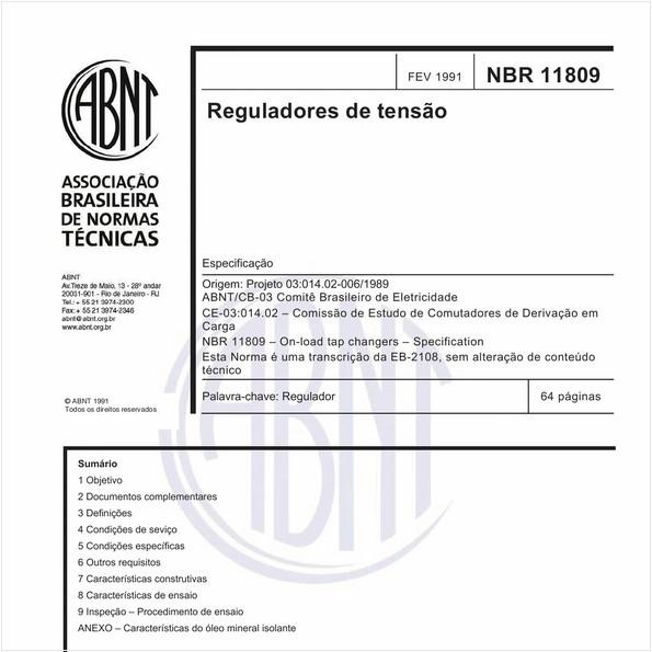 Reguladores de tensão - Especificação