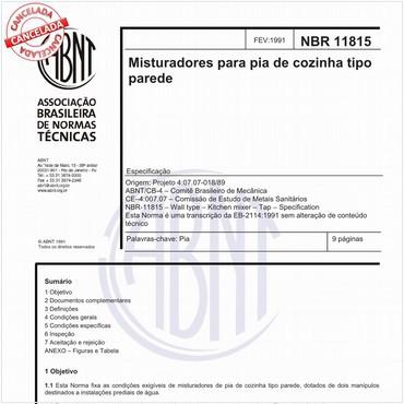 NBR11815 de 02/1991