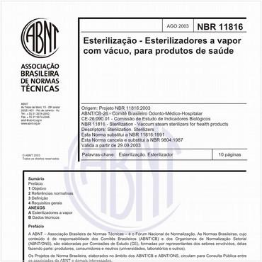 NBR11816 de 08/2003