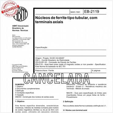 NBR11820 de 03/1991