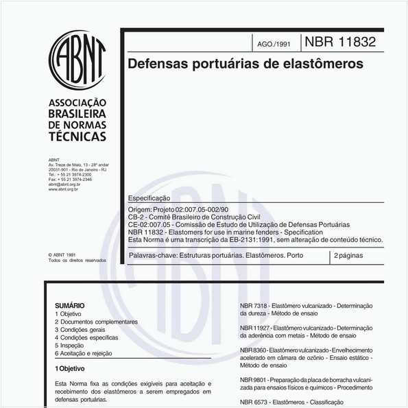NBR11832 de 08/1991