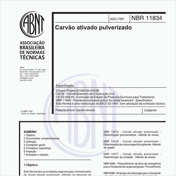 NBR11834 de 08/1991