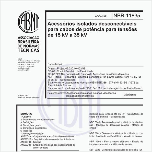 NBR11835 de 08/1991