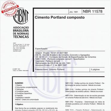 NBR11578 de 07/1991