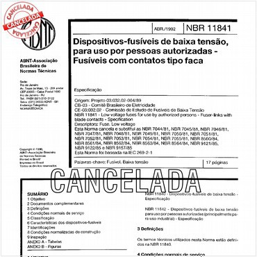 NBR11841 de 04/1992