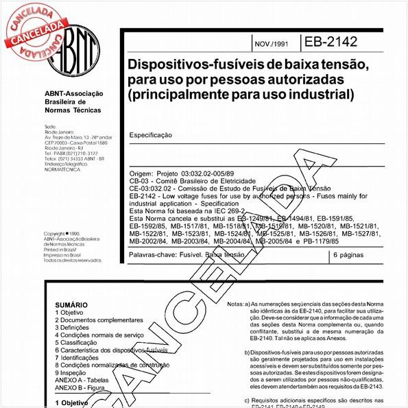 NBR11842 de 11/2003