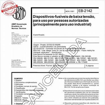 NBR11842 de 11/1991