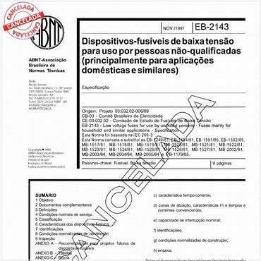 NBR11843 de 11/1991