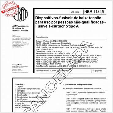 NBR11845 de 04/1992