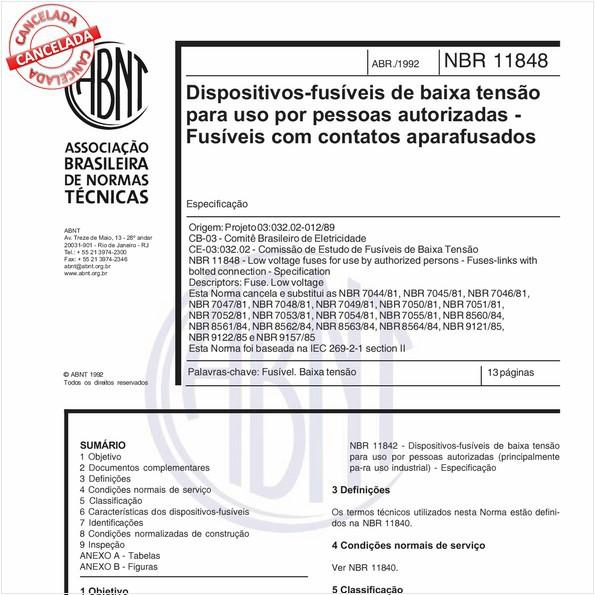 NBR11848 de 10/2012