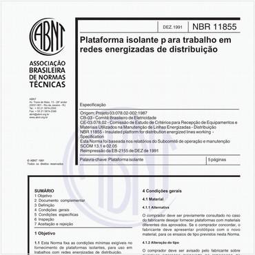 NBR11855 de 12/1991