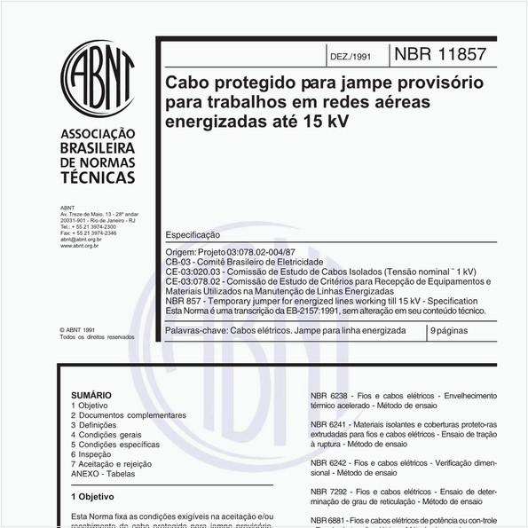 NBR11857 de 12/1991