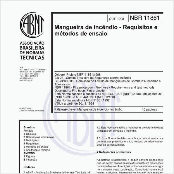 Mangueira de incêndio - Requisitos e métodos de ensaio