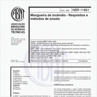 NBR11861 de 10/1998