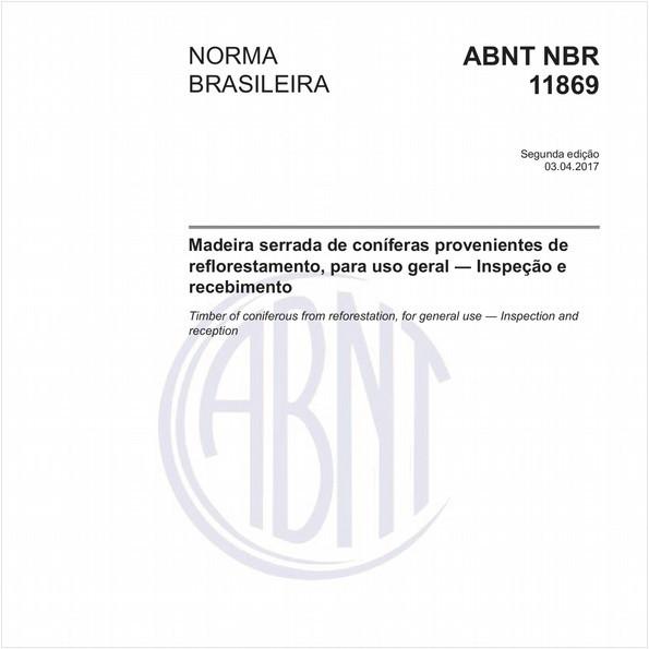 Madeira serrada de coníferas provenientes de reflorestamento, para uso geral - Inspeção e recebimento