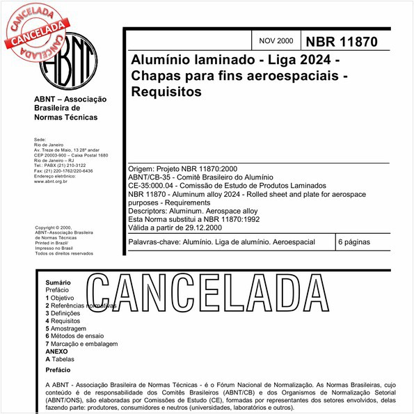 Alumínio laminado - Liga 2024 - Chapas para fins aeroespaciais - Requisitos