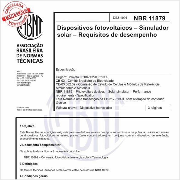 NBR11879 de 11/2012