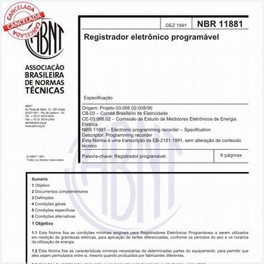 NBR11881 de 12/1991