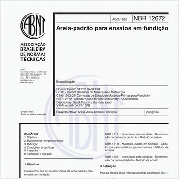 NBR12672 de 08/1992