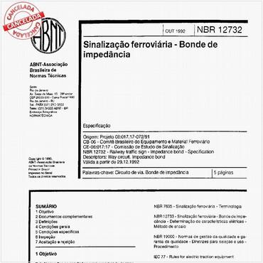 NBR12732 de 10/1992