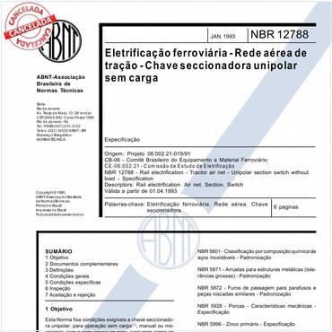NBR12788 de 01/1993