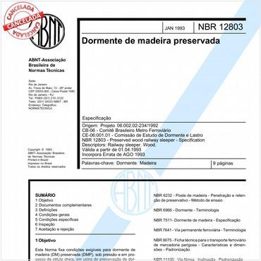NBR12803 de 01/1993