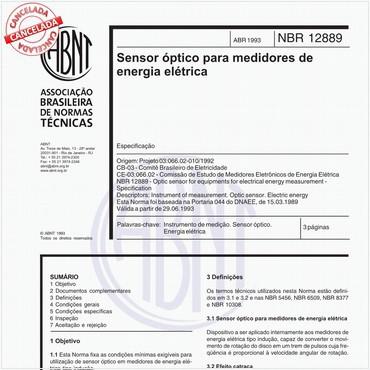 NBR12889 de 04/1993